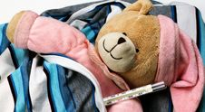 Free Toy Bear Is Sick Stock Photos - 28667693