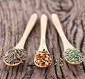 Free Variety Of Spices In The Spoons. Royalty Free Stock Photography - 28679617