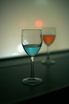 Free Red And Blue Vodka Drink Royalty Free Stock Photo - 28672635