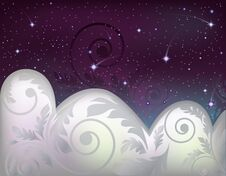 Free Night Sky Banner Stock Images - 28674394