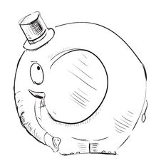 Free Cartoon Elephant In Top-hat Royalty Free Stock Photography - 28674577