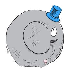 Free Cartoon Elephant In Top-hat Royalty Free Stock Photos - 28674578