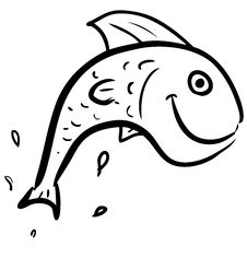 Free Fish Jumping Smiling Character Stock Photos - 28674593