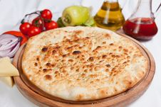 Free Garlic Focaccia Pizza Stock Photos - 28677453