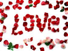 Free Word Love Of Rose Petals Stock Image - 28677531