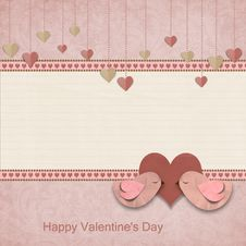 Free Happy Valentines Day. Retro Background Stock Image - 28678181