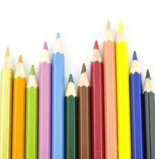 Free Color Pencil Symbol Graph Royalty Free Stock Photo - 28679005