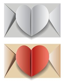 Free An Envelope With The Heart Stock Images - 28679584