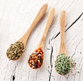 Free Variety Of Spices In The Spoons. Stock Photography - 28680082