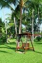 Free Swings At A  Beautiful Park Stock Image - 28681561