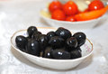 Free Black Olives In A Saucer Stock Photos - 28684033