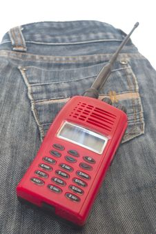 Red Radio Communication Stock Image