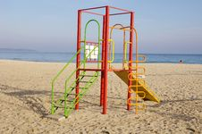 Free Colorful Children Playground On Beach Stock Photography - 28681052