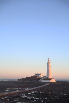 St Marys Lighthouse, Whitley Bay Royalty Free Stock Photography