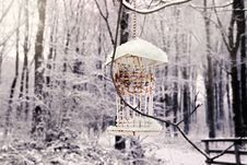 Free Winter Bird House Stock Images - 28683214