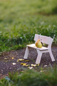 Free Love Fruits Sitting On The Bench Stock Photo - 28683640
