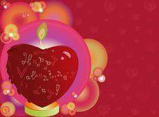 Free Valentines Heart Shaped Candle Stock Photos - 28684463