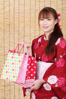 Free Young Asian Woman In Kimono Stock Photo - 28688760