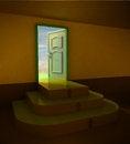 Free Orange Dark Three Rounded Stair Doorway Stock Photos - 28692423