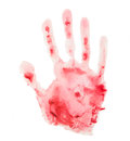 Free Bloody Handprint Royalty Free Stock Images - 28692819