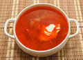 Free Borsch Ukrainian And Russian National Soup Stock Photo - 28693560