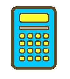 Free Calculator Blue. Royalty Free Stock Images - 28690329