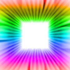 Free Square Blank  Sguare With Rainbow Beams Royalty Free Stock Photo - 28693475