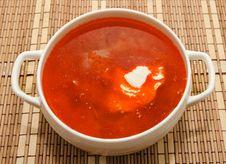 Free Borsch Ukrainian And Russian National Soup Stock Photo - 28693560