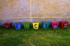 Free Colorful Welcome Box Stock Photos - 28699993