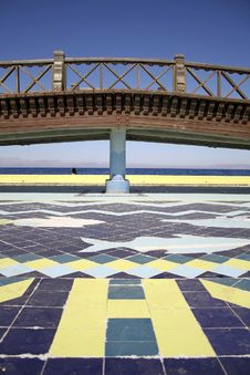 Free Bridge Mosaic In Dahab Red Sea Royalty Free Stock Photography - 2870047