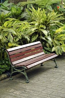 Free Empty Bench Royalty Free Stock Photo - 2870945