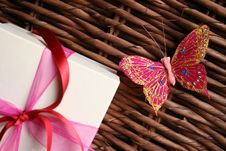 Free Gift And Butterfly Stock Images - 2873014