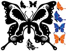 Free Butterfly Design Ornamental Royalty Free Stock Images - 2874019