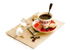 Free Coffee, Cookies, Glasses... Stock Photography - 2879602