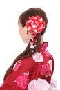 Free Profile Of Asian Woman In Kimono Royalty Free Stock Photos - 28705008