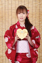 Free Young Asian Woman In Kimono Royalty Free Stock Image - 28705886