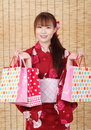 Free Young Asian Woman In Kimono Royalty Free Stock Image - 28705906