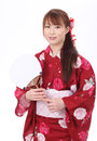 Free Young Asian Woman In Kimono Stock Images - 28705934