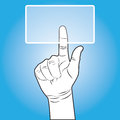 Free Hand Touching Button Royalty Free Stock Photography - 28706637