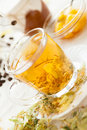 Free Golden Tea With Lime-blossom Stock Photos - 28709423