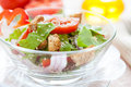 Free Vegetable Salad With Croutons Stock Photography - 28709452