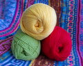 Free Three Tangle Of Yarn For Knitting. Stock Photos - 28709463