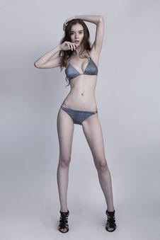 Young Bikini Model Stock Photography