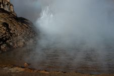 Geyser In Action Stock Photography