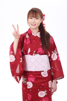 Free Young Asian Woman In Kimono Stock Photos - 28704983