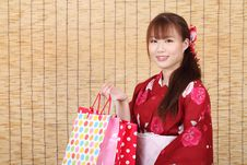 Free Young Asian Woman In Kimono Stock Photo - 28705920