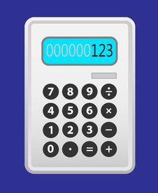 Free Calculator Grey. Royalty Free Stock Photo - 28707425