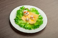 Free Design Of Food For Children. Eggs In The Shape Of Mouse Stock Image - 28707681