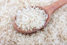 Free White Rice In Spoon Stock Images - 28708764
