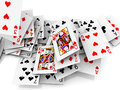Free Falling Cards Royalty Free Stock Photo - 28710465